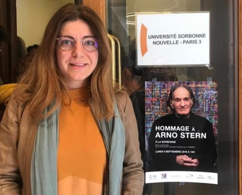 Laura at the UNESCO conference in Paris