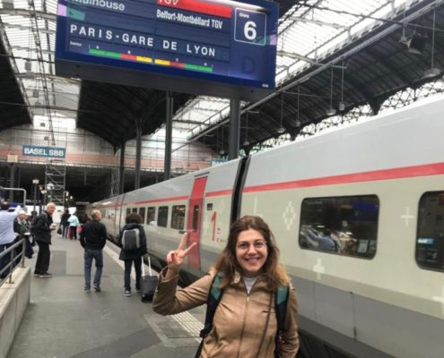 Laura on the way to Paris